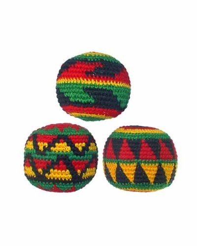 Amazon Set Of 3 Hacky Sacks Rasta Colors In Assorted