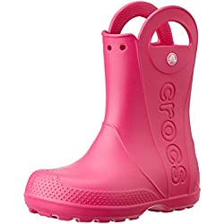 crocs Kids Handle It Rain Boot (Toddler/Little Kid), Candy Pink, 13 M US Little Kid