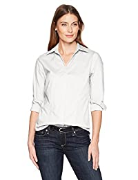 Riders by Lee Indigo Womens Long Sleeve Button Front Easy Care Woven Shirt