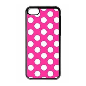 LZHCASE Diy Hard Shell Case Polka dot For Iphone 5C [Pattern-1]