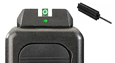 AmeriGlo GL-102 i-Dot Fits Glock 20,21,29,30,31,32,36, i-Dot Set Green Green + Ultimate Arms Gear Pro Disassembly 3/32 Pin Punch Armorers Gunsmith Tool from Ultimate Arms Gear