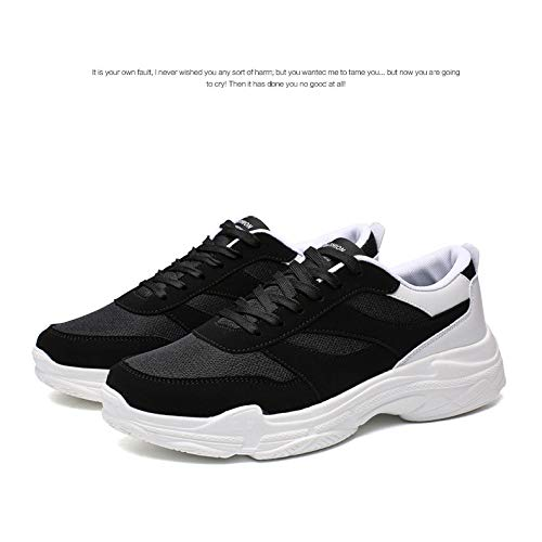 Altura Deporte Gran K08whiteblack Zapatillas Casual Tamaño Aumento 47 Otoño Plataforma De Zapatos Hombre Yxlong ZvxFE6Z
