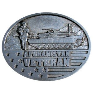 Afghanistan Veteran Belt Buckle 3-1/4 in. x 2-1/2 in. ()