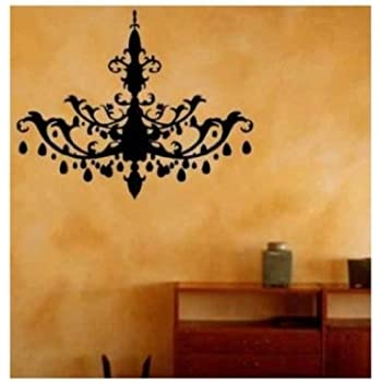 Chandelier Decal Crystal Tribal Wall Art Vinyl Sticker (package Come With  Glowindark Switchplate Decal)