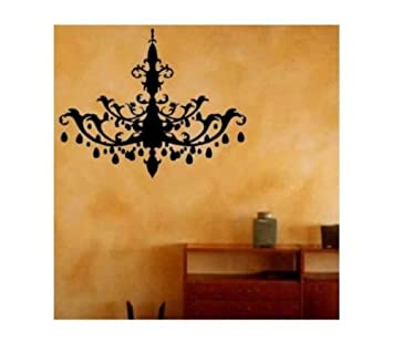 Amazon chandelier decal crystal tribal wall art vinyl sticker chandelier decal crystal tribal wall art vinyl sticker package come with glowindark switchplate decal mozeypictures Gallery