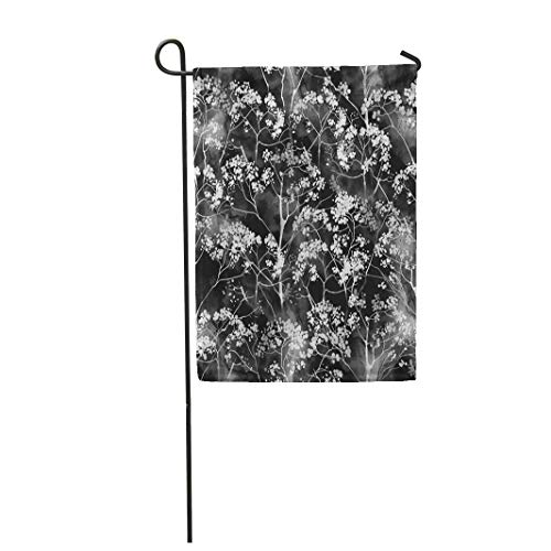 Tarolo Decoration Flag Imprint of Flowers Digital Drawing and Watercolor Botanical Wallcovering Boho Chic Mixed Media Floral Thick Fabric Double Sided Home Garden Flag 12