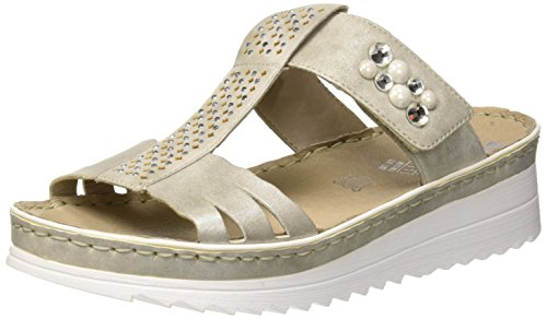 Grey 40 UK Rieker Mules Grey WoMen 5 Bronze V3276 Grey 3 vZwtP6Z