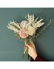 Lavenor Artificial Flowers Bouquet Fake Flower Arrangements Silk Plastic Artificial Hydrangea for Vases Table Centerpieces Home Garden Party Wedding Decoration