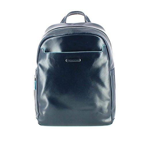 Piquadro Blue Square Business Mochila piel 27 cm compartimento portátil Azul