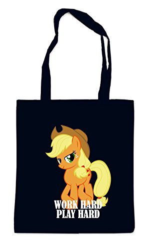 Work Hard Play Hard Pony Bag Black