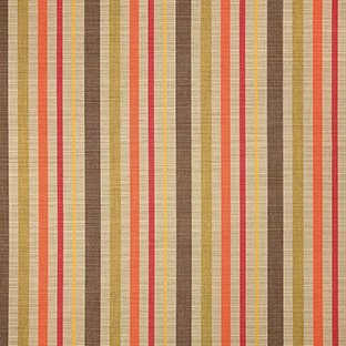 Yellow Stripe Upholstery Fabric - Sunbrella Indoor / Outdoor Upholstery Fabric By the Yard ~ Solano Fiesta ~ Coral, Green, Tan, Yellow, Brown, Stripe