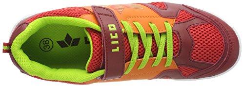 Lico Unisex-Erwachsene Sport Vs Multisport Indoor Schuhe Rot (Rot/Orange/Lemon Rot/Orange/Lemon)