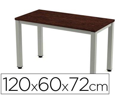 Mesa de oficina Rocada executive 200ad03 aluminio /wengue 120x60 ...