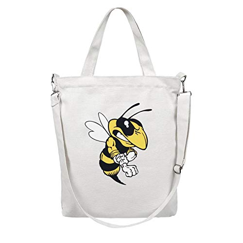 - Womens Tote Shopping Bag Dodge Ram Rumble Bee Canvas Washable Shoulder Tote Bag Handbag Perfect for Shopping,Laptop,School Books
