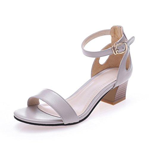 La Nago - Zapatos con tacón mujer gris