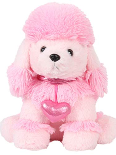 Poodle Pink Fuzzy - Linzy Toys Plush Pink French Poodle 13