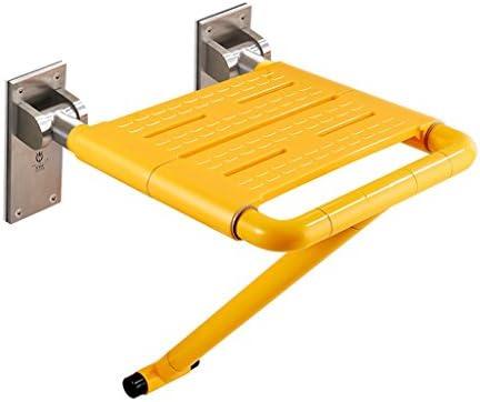 Cqq Badestuhl Faltbarer Duschstuhl-Anwendbar für ältere Menschen, Schwangere, Behinderte (Farbe : Gelb)