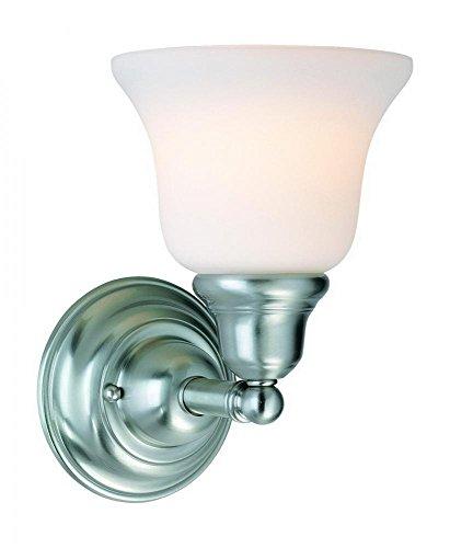 - Dolan Designs 491-09 1Lt Bath Satin Nickel Brockport 1 Light Bathroom Fixture