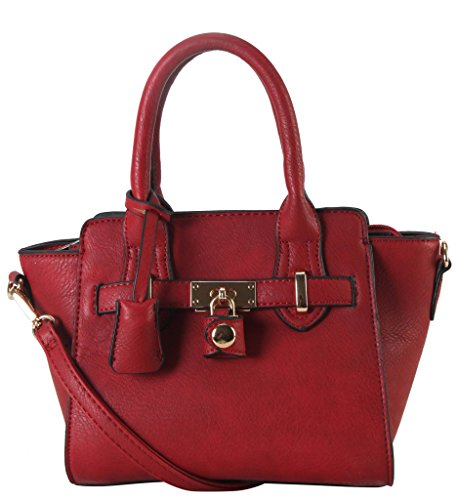 diophy-pu-leather-front-lock-dcor-mini-top-handle-womens-purse-handbag-accented-with-removable-strap