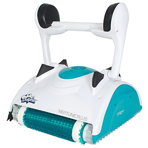 Maytronics Dolphin Neptune Plus Robotic in Ground Swimming Pool Cleaner with Caddy Cart -...