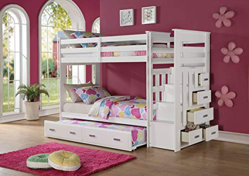 Fantastic Acme Allentown Twin Over Twin Bunk Bed With Storage Ladder Pdpeps Interior Chair Design Pdpepsorg
