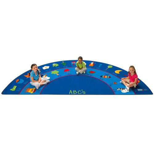 (Carpets for Kids 9618 Literacy Fun with Phonics Kids Rug Size: Semi-Circle 5'10 x 11'8