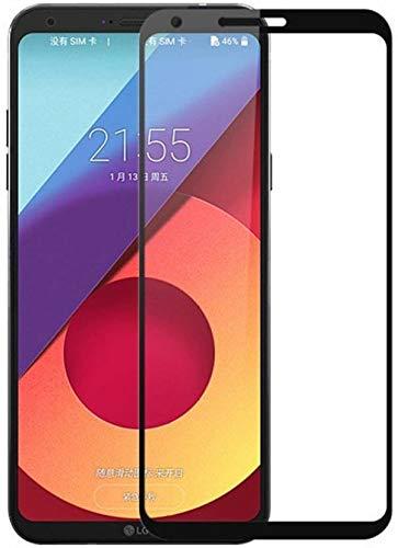 Mobirush LG Q6 Plus Edge to Edge    Full Gum    Full Glue    Gorilla Tempered Glass Guard for LG Q6 Plus   Black