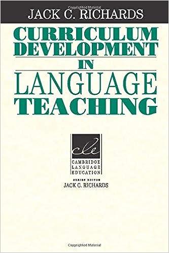 Amazon com: Curriculum Development in Language Teaching (Cambridge