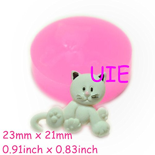 067LBD Naughty Cat Silicone Push Mold Dollhouse Clay Push Mold Scrapbooking Mold Polymer Clay Charms (Clay Fimo Resin Wax Epoxy) -