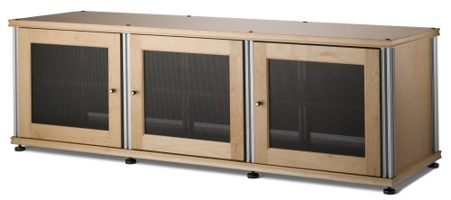 Salamander Synergy 237 A/V Cabinet w/ Three Doors (Maple/Silver)