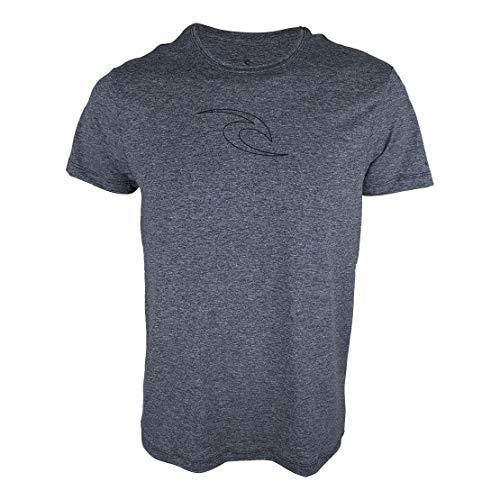 Camiseta Rip Curl Sunoff Uv Icon Fade Chumbo Mescla-M