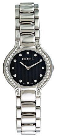 Ebel Beluga Mini Stainless Steel & Diamond Womens Watch Slate Grey Dial 1215867 9003N18/391050