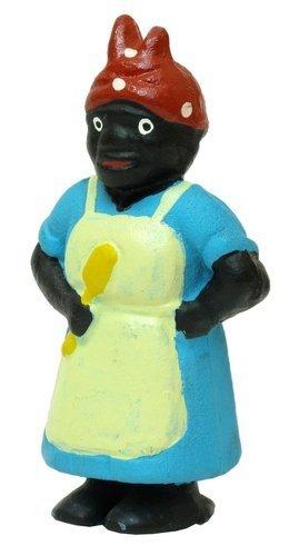 cast iron black lady penny bank - 6
