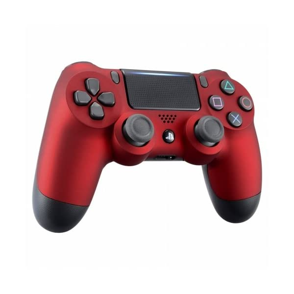 OC Gaming PS4 Dualshock Playstation 4 Wireless Controller Custom Soft Touch New Model JDM-040 (Red) 2