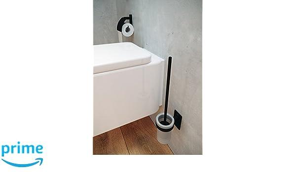 Negro-Mate bath Stick Escobillero Pared Metal