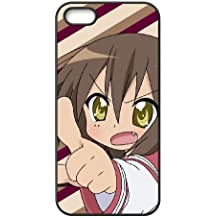 Customized angry chibi girl iPhone 4 4s Cell Phone Case Black Cover TPU Case