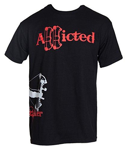 String Stalker Bow Hunting Addicted Short Sleeve T Shirt