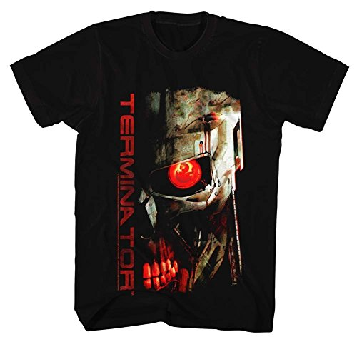 Terminator Red Eye T-Shirt for Men, Black - S to 3XL