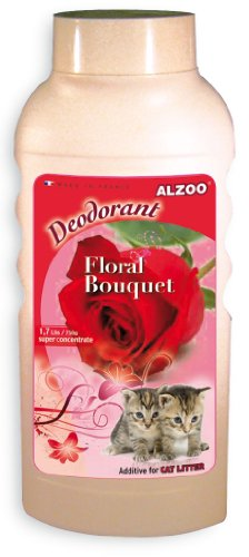 Alzoo Cat Litter Deodorizer, Floral Bouquet