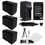 UltraPro 3-Pack of BP-975 High-Capacity Replacement Batteries with Rapid Travel Charger for Select Canon Digital Cameras - UltraPro Bundle Kit