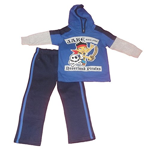 Jake and the Neverland Pirate Toddler Boys 2pc Hooded Jog Set (2T) -