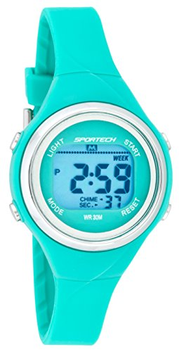 SPORTECH Unisex | Turquoise Digital Multi-Function Water-Resistant Sports Watch | SP10718