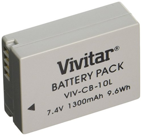 Vivitar NB-10L Ultra High Capacity 1300mAh Li-ion Battery for Canon PowerShot SX50 HS, Powershot SX40 HS, PowerShot G1X, Powershot G16, Powershot G15 (Canon NB-10L Replacement)
