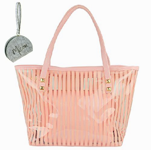 micom-semi-clear-beach-tote-bags-large-stripe-pvc-swim-shoulder-bag-with-interior-pocket-orange