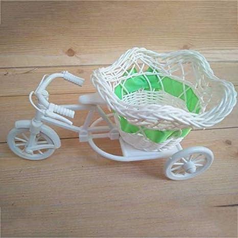 RAQ Triciclo Moderno de Mimbre Cesta de Bicicleta Jardín Fiesta de Bodas Florero de Mesa de Oficina Decoración Familiar Florero de Dormitorio Herramienta de decoración de Flores2
