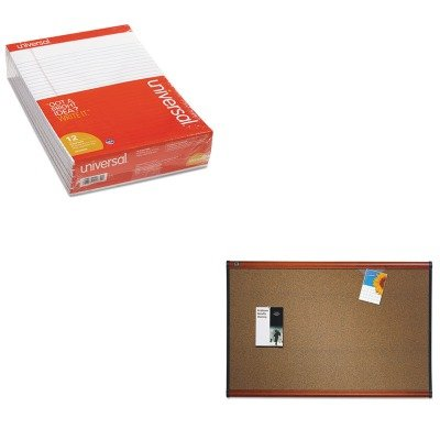 KITQRTB247LCUNV20630 - Value Kit - Quartet Prestige Bulletin Board (QRTB247LC) and Universal Perforated Edge Writing Pad (UNV20630) by Quartet