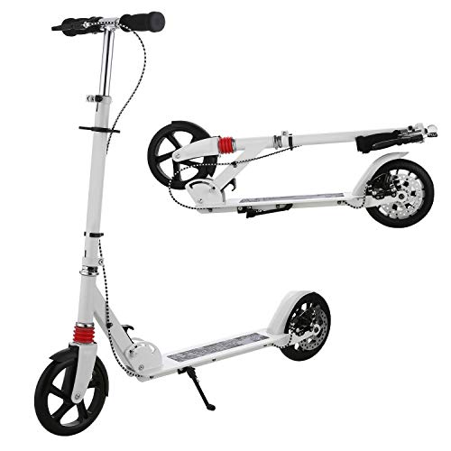 OUTCAMER Adult Scooter Folding Kick Scooter Big Wheels Scooter for Kids//Adults with 3 Adjustable Height 220lbs Max Load