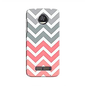 Cover It Up - Pink and Grey Jagged Moto Z2 PlayHard Case