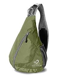 WATERFLY Packable Shoulder Backpack Sling Chest Sport Hiking Bag Cover Bicycle Cross Body Bag Rucksack Travel Backpack Backpack Camping Bag Bookbag