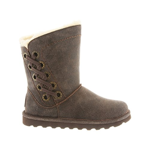 BEARPAW Distressed Boot Womens 11 Chestnut Morgan Size Winter 8Bc8arWy